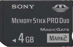 Sony 4GB Memory Stick PRO-Duo MARK2