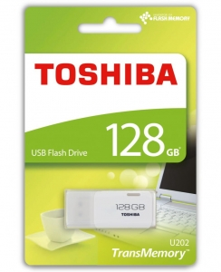 Toshiba FLASHDRIVE 128GB U202 USB 2.0 WHITE