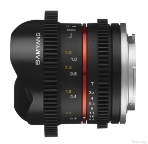 Samyang 8mm T3.1 do Sony E Cine VDSLR